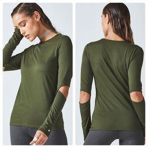 Fabletics Cutout Elbow Long Sleeve Top
